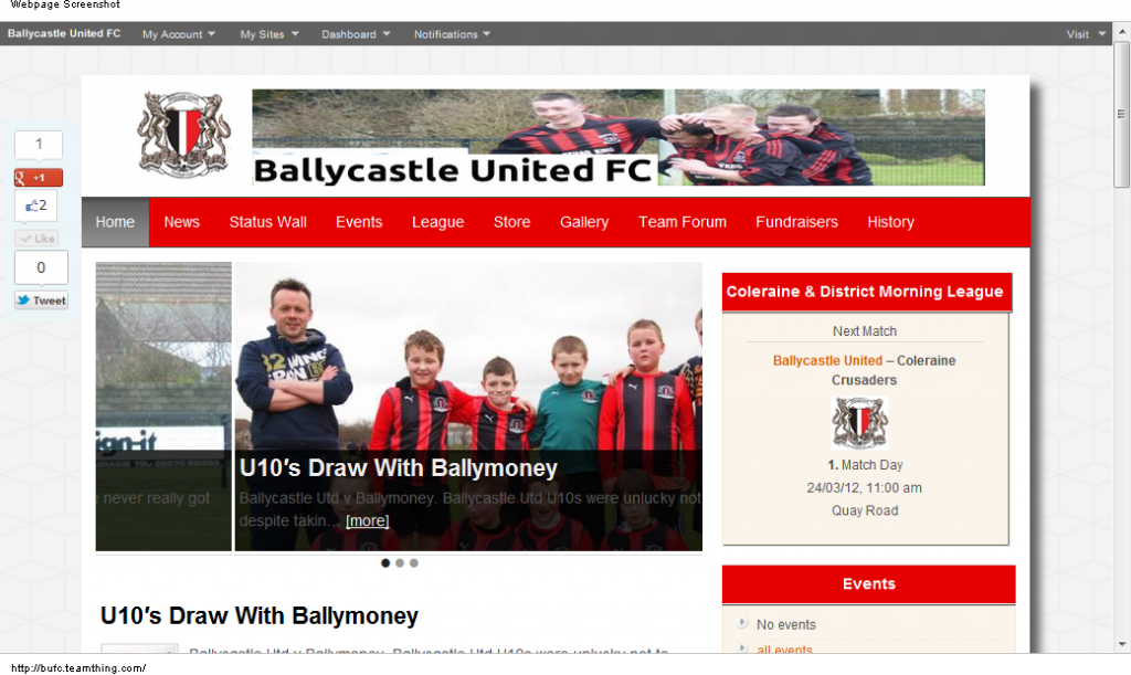 Ballycastle United FC - TeamThing.com